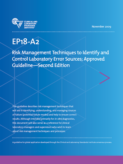 Risk Management Techniques to Identify and Control Laboratory Error Sources, 2nd Edition
