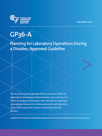 Planning for Laboratory Operations During a Disaster, 1st Edition