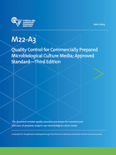 Document Competency Quiz for M22-A3—Quality Control for Commercially Prepared Microbiological Culture Media, 3rd Edition