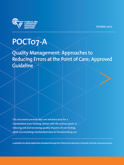 Document Competency Quiz for POCT07-A—Quality Management: Approaches to Reducing Errors at the Point of Care, 1st Edition