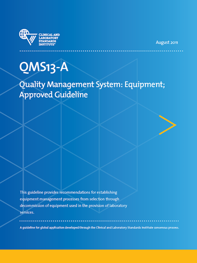Quality Management System: Equipment, 1st Edition