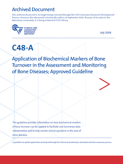 Application of Biochemical Markers of Bone Turnover in the Assessment and Monitoring of Bone Diseases, 1st Edition